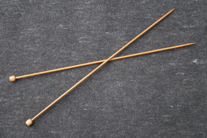 Jackenstricknadel Bambus Patina
